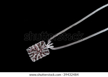 High Class Womens Expensive Necklace - stock photo