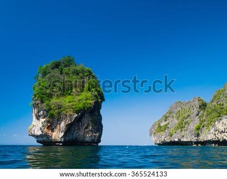 High Cliff Sea Rocks  - stock photo