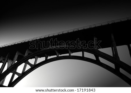 High Contrast Bridge Arc - stock photo