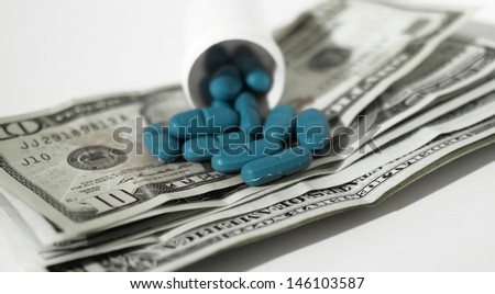 high costs of expensive medication concept  - stock photo
