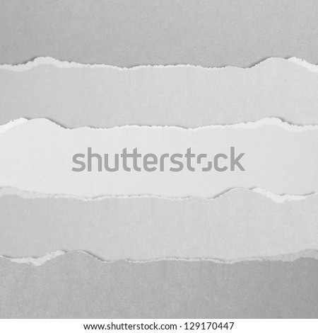 high definition gray torn paper - stock photo