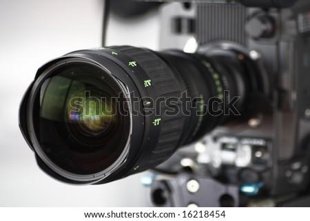 high definition hd cam camera lens close up - stock photo