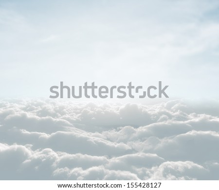 high definition skyscraper with clouds - stock photo