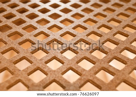 high-density fiberboard in rhombs, view from below - stock photo