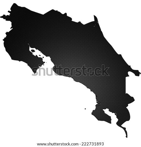 High detailed carbon map - Costa Rica - stock photo