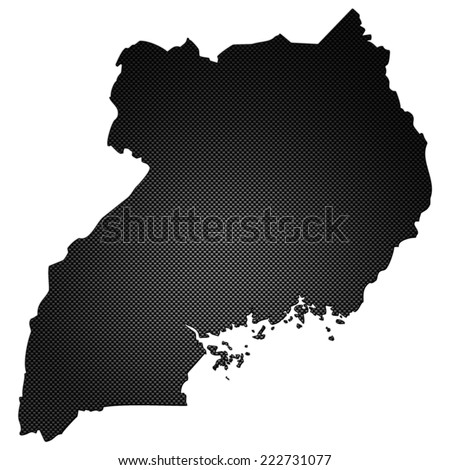 High detailed carbon map - Uganda - stock photo