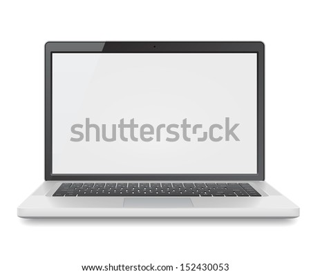 High detailed laptop. - stock photo