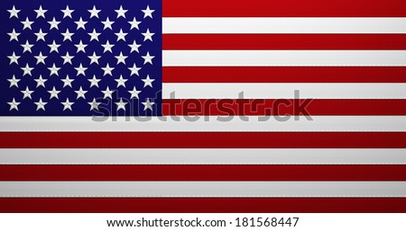 High detalied Illustration of the USA flag - stock photo