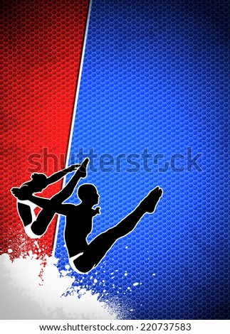 High diving sport invitation advert background with empty space - stock photo