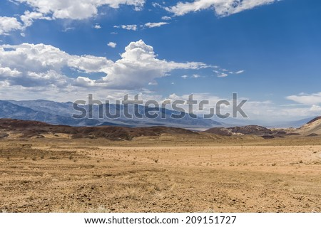 High Dynamic Range (HDR) Image of a Scenic view of Badwater in Death Valley National Park, USA - stock photo