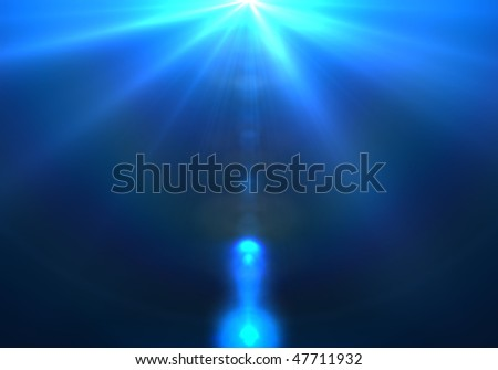 High energy discharge. Light rays. - stock photo