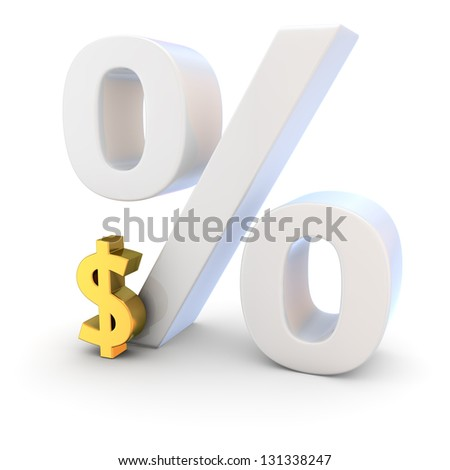 High exchange rate of dollar currency - stock photo