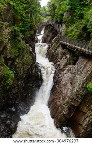 High Falls Gorge, Adirondack Mountains - stock photo