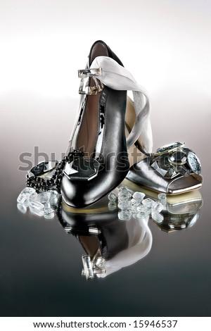 High fashion shoes - stock photo