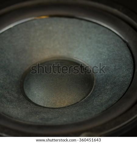 High Fidelity Bass Musical Speaker  - stock photo