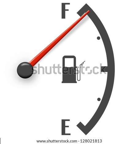 High fuel sign isolated on a white background - stock photo