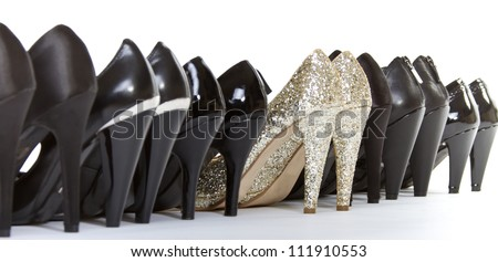High heels in different colors - stock photo