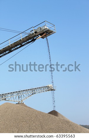 high iron transporter for sand or stone - stock photo