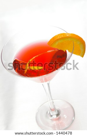 High-Key Cosmopolitan martini. - stock photo