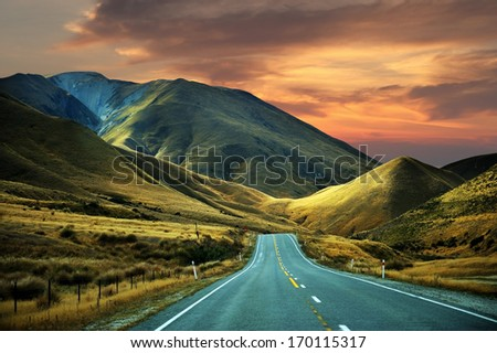 High mountain in new zealand - stock photo
