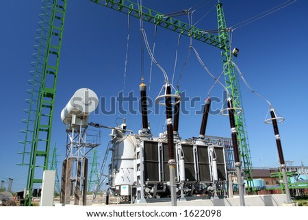 High power station for Industry - stock photo