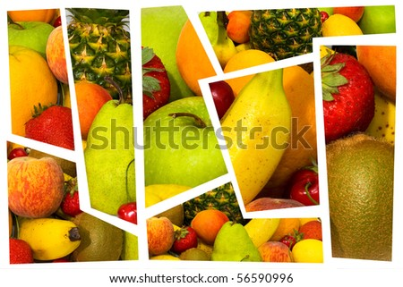 High quality collection of fruits.fresh fruit. part one - stock photo