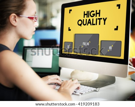 High Quality Display Digital Technology Monitor Concept - stock photo