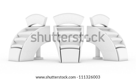 High res.3d white promotion counter isolated - stock photo