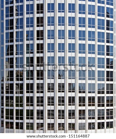 High resolution a skyscraper windows - stock photo