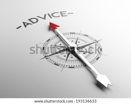 High Resolution Advice Concept - stock photo
