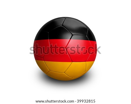 High resolution and highly detailed 3D rendering of a german soccerball. With clipping path removes the soft shadow. This country qualified for the 2010 soccer world cup in South Africa. - stock photo