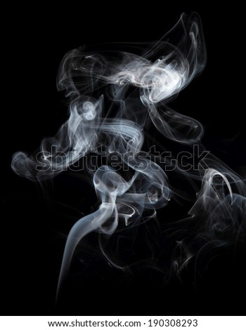 High resolution beautiful color smoke on black background - stock photo