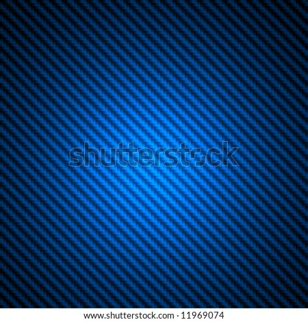 High resolution blue carbon fiber spotlight background illustration - stock photo