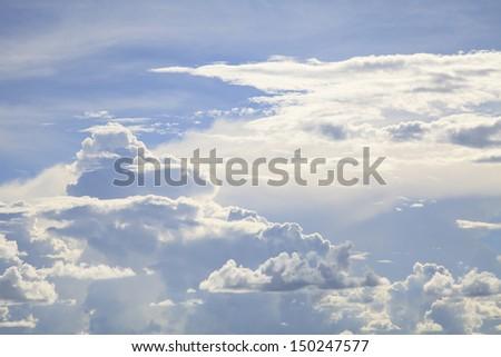 high resolution blue sky - stock photo