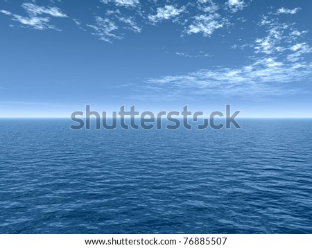 High resolution blue water and sky  background,ideal for nature and summer designs - stock photo