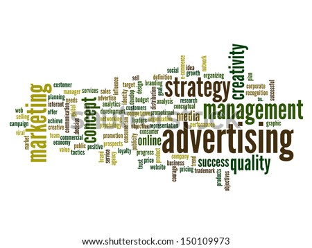 High resolution concept or conceptual abstract word cloud on white background as metaphor for business,trend,media,focus,market,value,product,advertising or customer.Also for corporate wordcloud - stock photo