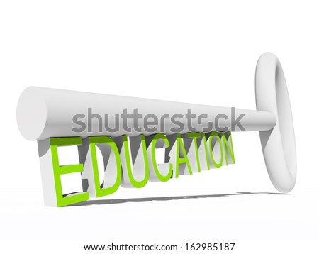 High resolution concept or conceptual blue green 3D key isolated on white background as a metaphor for child,family,education,life,home,key,love. Also for school,learn,wisdom, success or achievement - stock photo
