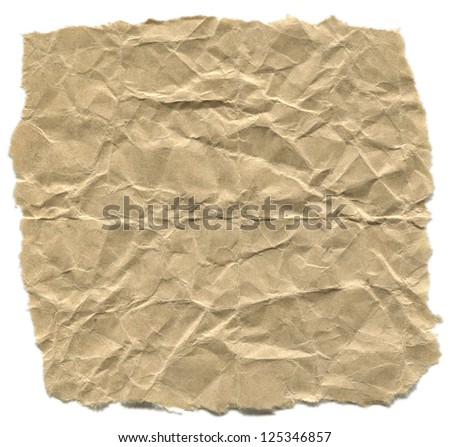 high resolution Crushed craft paper/Crushed paper - stock photo