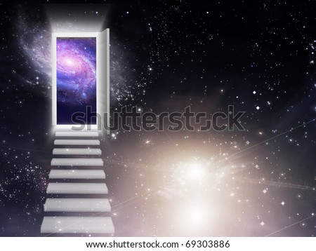 High Resolution 3D Illustration Entrance Exit - stock photo