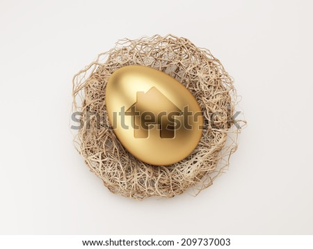 High Resolution Egg Home Icon - stock photo