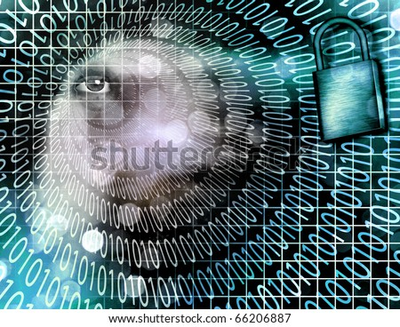 High Resolution Electronic Security - stock photo