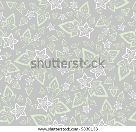 High resolution floral seamless background pattern - stock photo
