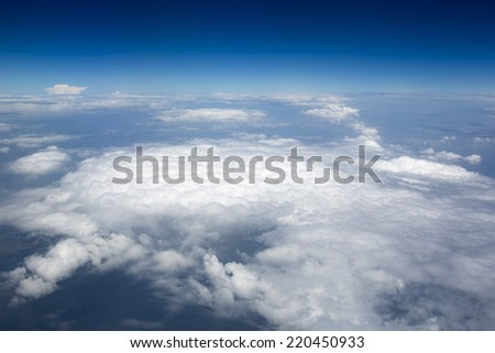 High resolution images of clouds and blue sky - stock photo