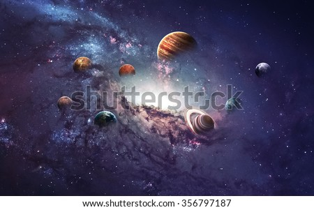 High resolution images presents creating planets of the solar system. This image elements furnished by NASA. - stock photo