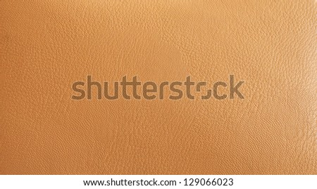 High resolution leather beige textured background - stock photo