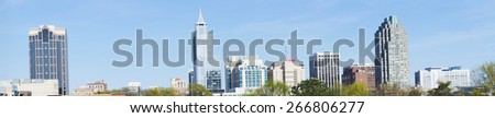 High resolution panorama of downtown Raleigh, NC - stock photo