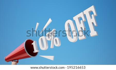 High Resolution 10 Percent Off - stock photo