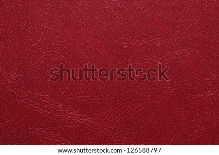 High resolution photo of red artificial leather. - stock photo