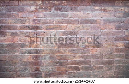 High resolution pictures clean orange modern pattern of brick wall . - stock photo