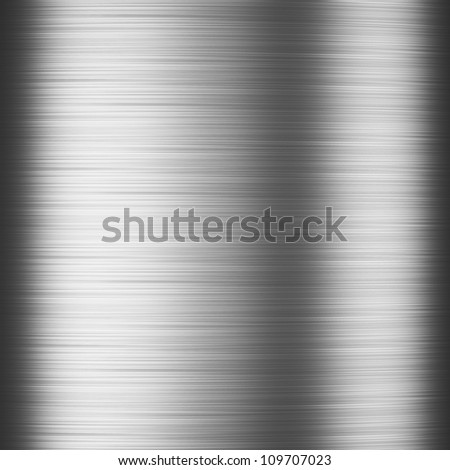 High resolution polished metal background - stock photo